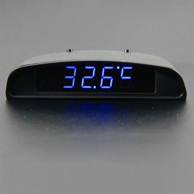 3 In 1 Car Auto Digital Clock Time Thermometer Temp Volt Voltage Monitor Meter