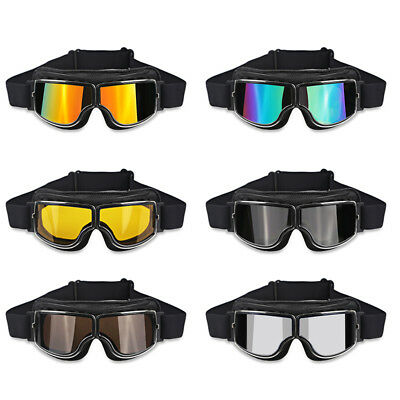 Universal Vintage Motorcycle Goggles Pilot Aviator Motorbike Scooter Glasses