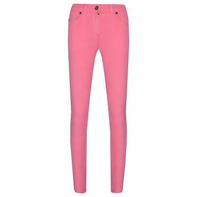 Girls Skinny Jeans Kids Pink Stretchy Denim Jeggings Fit Pants Trousers 5-13 Yrs