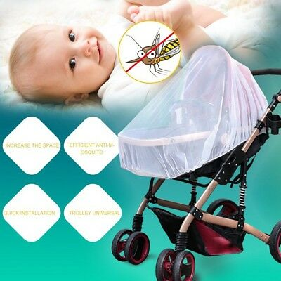 Infants Baby Stroller Pushchair Anti-Insect Mosquito Net Safe Mesh White TW