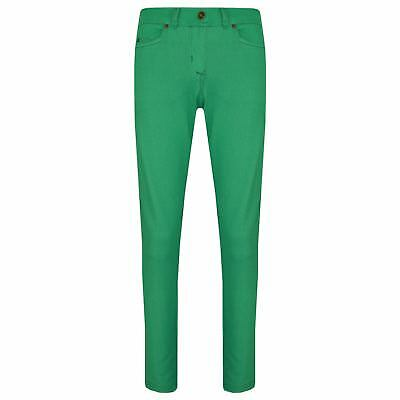 Girls Skinny Jeans Kids Green Stretchy Denim Jeggings Fit Pants Trousers 5-13 Yr