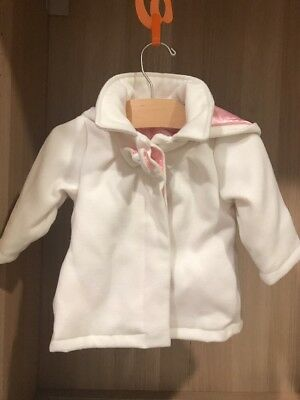 Sprout Baby Girl Coat White Size 0