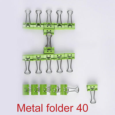 40Pcs 19mm Smile Metal Binder Clips For Home Office File Paper Organizer SZX