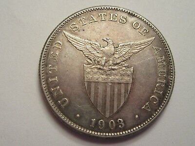 1903 Philippines Silver One Peso, great details!