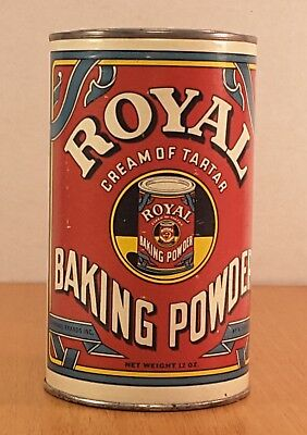 Vintage Royal Baking Powder Tin 12 oz 3/4 Full Can Standard Brands New York NY