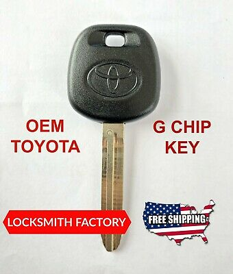 New Toyota G Chip Transponder Master Ignition Uncut Key Blank 89785-08040