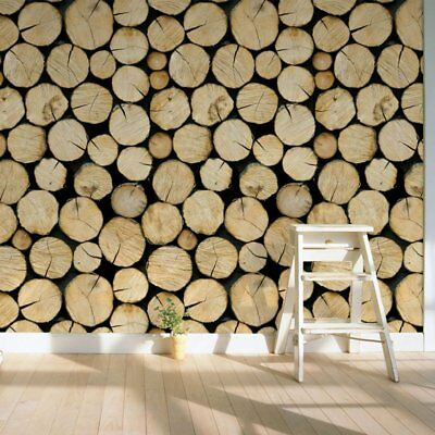 Wood Log Tree Contact Paper Liner Self Adhesive Wallpaper Mural Wall Arts Decal