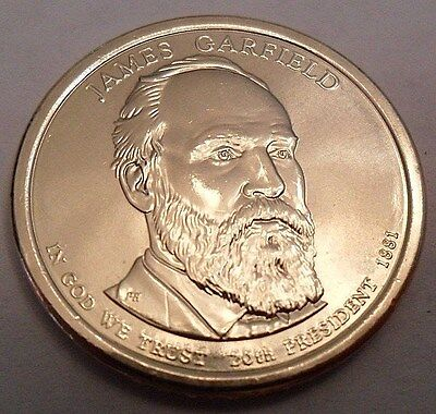 2011 D James Garfield Presidential Dollar Coin  **FREE SHIPPING**