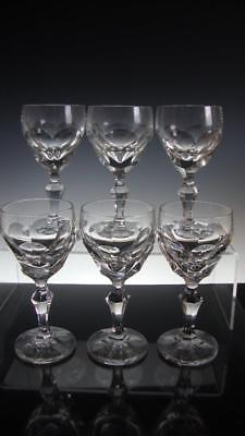 Set of Six (6) Villeroy & Boch Salome Crystal Wine Glasses - Signed