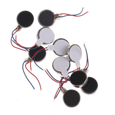 10x Coin Flat Vibrating Micro Motor DC 3V Fit For Pager and Cell Phone Mobile JK