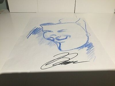 V for Vendetta original comic art sketch David Lloyd Hand Drawn and Signed