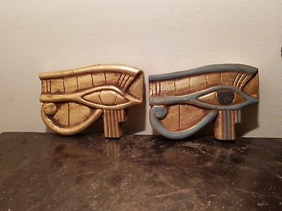 Rare Antique Ancient Egyptian 2 Eye of Horus protection Amulet wadjet1890-1770BC