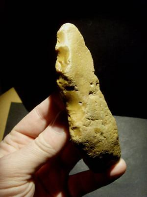 Lower Palaeolithic -  Acheulean elongated scraper -   UK C.350,000+ BP