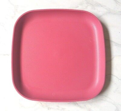 Tupperware Square Plates 8\  Lunch/Snack Plates Fiesta Pink & TUPPERWARE SQUARE Plates 8\