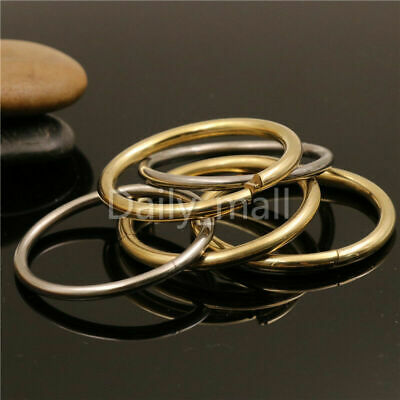 Key Ring Loop Quick Release Keychain Loop Split Rings Loop Brass/Stainless steel