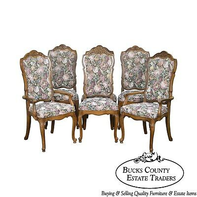 Thomasville Vintage French Louis XV Style Set of 6 Dining Chairs