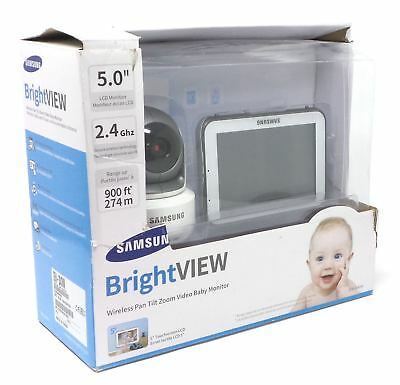 "Samsung BrightVIEW Wireless Zoom Tilt Video Baby Monitor 5"" SEW-3043W See Desc"