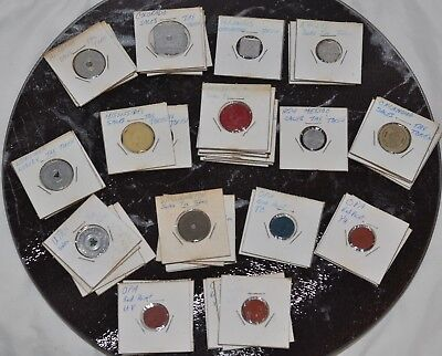 Salvage Find Lot of 57 Tax Tokens 11 States, OPA Blue Red Ration Tokens
