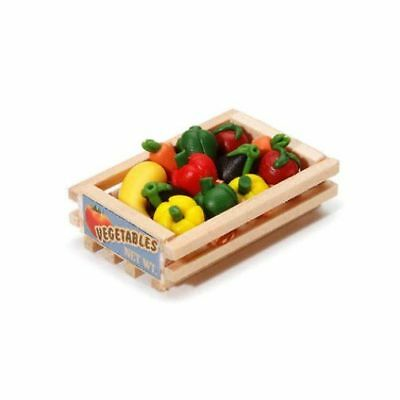 Miniature Dollhouse Fairy Garden Vegetables in Wood Crate - Buy 3 Save $5
