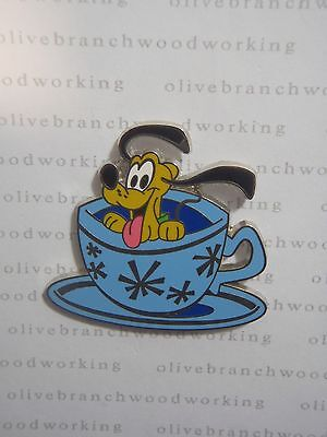 Disney Baby Characters Vehicles PLUTO MAD TEA CUP PARTY Alice In Wonderland Pin