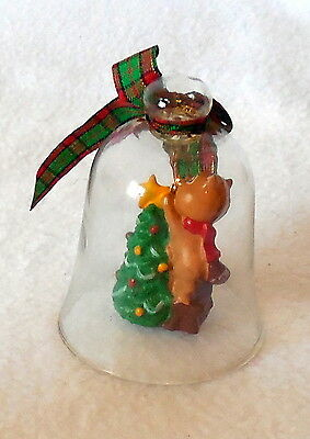 CHRISTMAS CHARM bell AVON ornament chipmunk tree