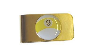 Sterling Gaming 9-Ball Money Clip in Brass-Plated Steel [ID 31485]