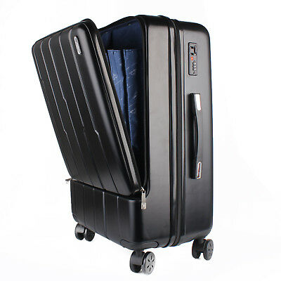 US ship Luggage Travel Set Bag ABS+Aluminum Carry-On Expandable Spinner Suitcase