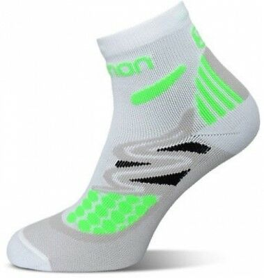 Salomon XT Hawk Running Socks ? Green/White with Precise Fit Cushioned Sole