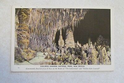 c293 Vintage Postcard scene view Carlsbad Caverns National Park NM New Mexico