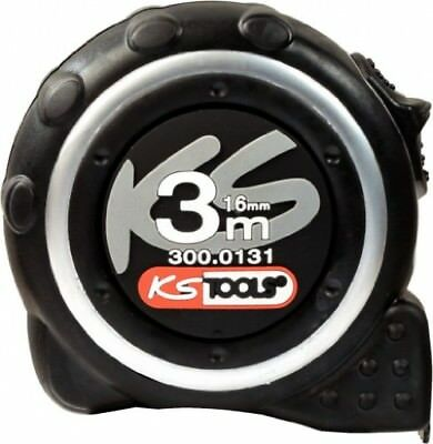 KS Tools 300.0131 Tape measure with locking device and belt clip, black grey, 3m