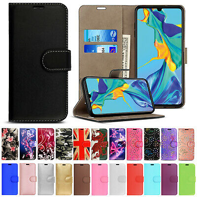 Leather Flip Wallet Stand Case Cover For Huawei P20 Lite P30 Pro P Smart 2019