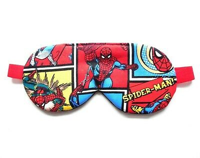 Sleep Mask Spiderman Mens Eye Shade Superhero Adult or Kid Size Marvel Comic Boy