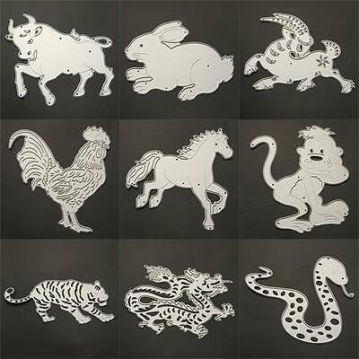 DIY~Animal Metal Cut Dies Stencil Scrapbook Paper Card Diary Craft Embossing^