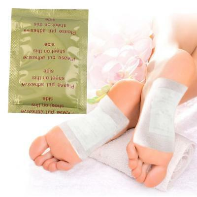 10X Women New Detox Foot Pads Patch Detoxify Toxins Adhesive Keeping Fit Care^