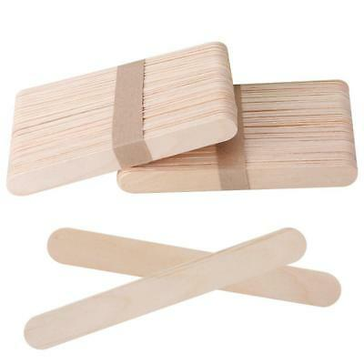 NEW,50X High Quality Wooden Tongue Depressor Waxing Spatula Tattoo Wax Stick^
