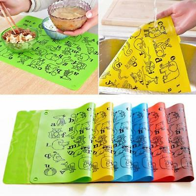 Silicone Baby Children Placemats Heat Resistant Kids Meal Mat Supply New^