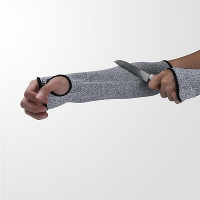 NEW Safety Cut Sleeves Arm Guard Heat Resistant Protection Armband Gloves Grey^