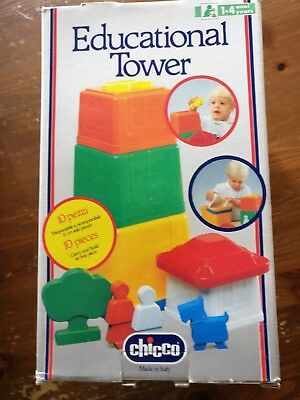 VINTAGE Chicco  education , play tower  1990