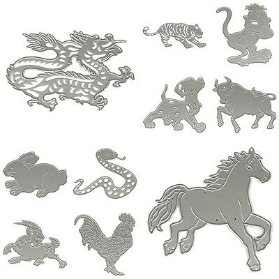 Stencil Scrapbooking Animals Album Paper Card Craft Embossing Cut Dies Metal^