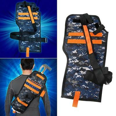Tactical Back Holster Pouch Bag Accessories for Nerf Gun Kids Outdoor CS Game^