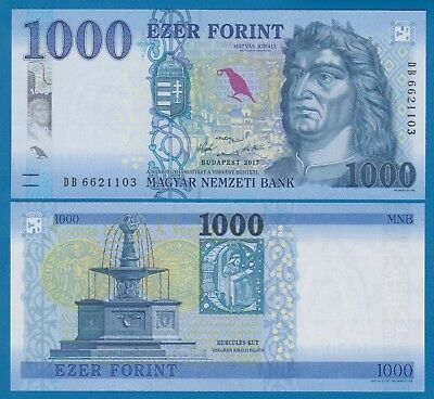 Hungary 1000 Forint P 203a 2017 UNC Low Shipping! Combine FREE! 203 a
