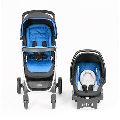Urbini Emi Travel System Blue Baby Infant Toddler Child Stroller Car Seat New