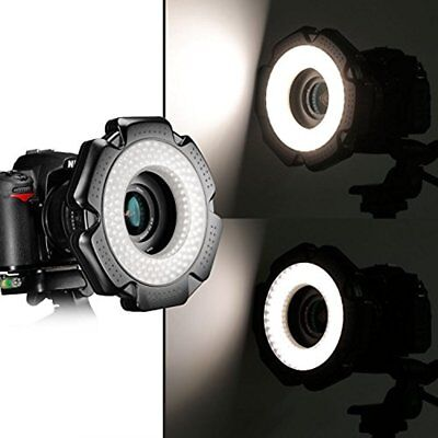 R-160 Pieces 5600K 10W Mini LED Macro Ring Light With Adapter Rings Lens