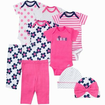 Gerber Baby Girls 9 Piece Layette Set NEW Various Sizes Baby Shower Gift