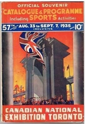 Canadian National Exhibition Toronto 1935 Souvenir Catalogue Program Sports Map