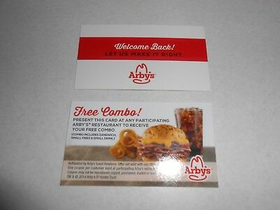 Lot of 10 Arby's Combo Meal Cards