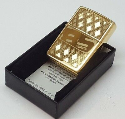 24ct GOLD PLATED GENUINE ZIPPO '85TH ANNIVERSARY' PETROL LIGHTER 24K 29438