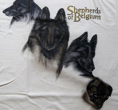 "Belgian Tervuren T-shirt  "" Natural ""  Small ( 34 - 36 )"