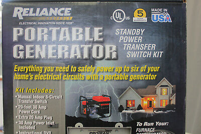 Reliance STANDBY POWER TRANSFER KIT UP TO 8000 WATTS 6 CIRCUT.