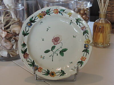 RARE ANCIENNE FAIENCE MARSEILLE / ITALIENNE ASSIETTE XVIIIEME ITALY CERAMIC 18th